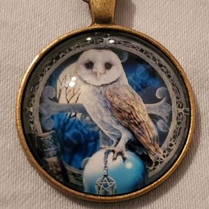 Owl Wiccan Pagan Pendant